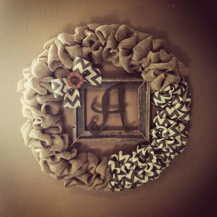 Front Door Monogram Wreath,front door decor,front door wreaths,year round wreath,home&living,wood monogram, gift,wood letters,rustic wreaths by GBTButtonsNBows on Etsy https://www.etsy.com/listing/236799489/front-door-monogram-wreathfront-door