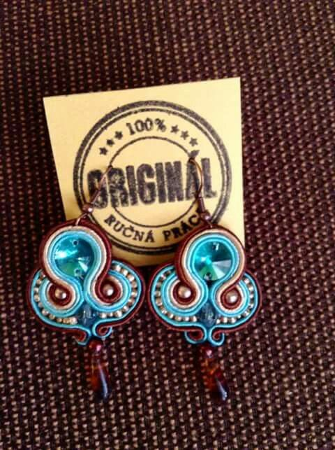 Handmade ZuzDesign soutache earings