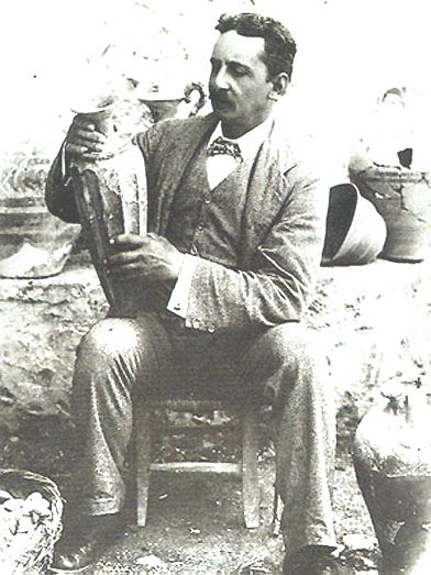 Sir Arthur Evans, the archaeologist who worked at Knossos on Crete: http://www.Greece-Travel-Secrets.com/Sir-Arthur-Evans.html