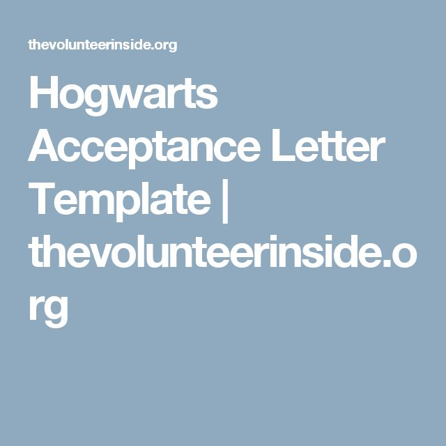 Best 25+ Hogwarts acceptance letter template ideas on Pinterest - acceptance letter template