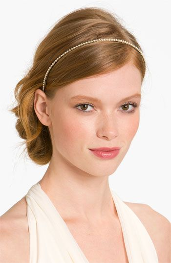 Cara Accessories 'Skinny Pearl' Headband available at #Nordstrom