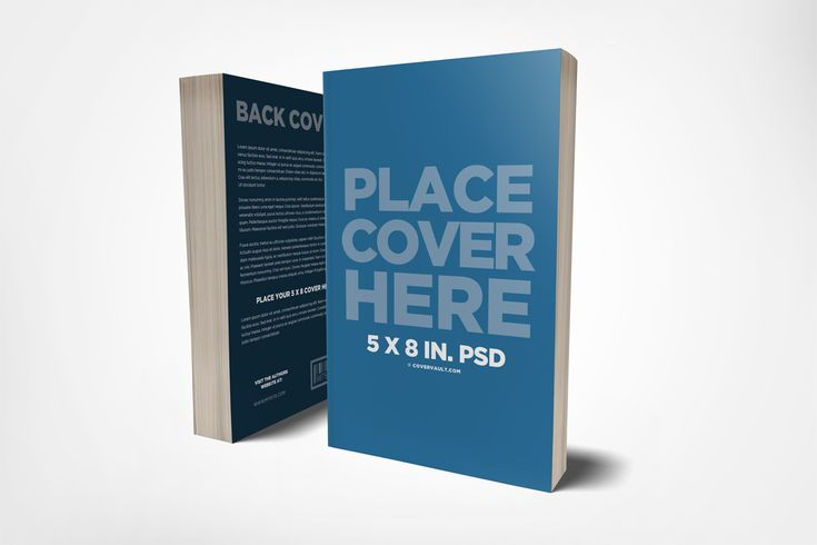 5 x 8 Front & Back Cover Book Mockup via @covervault