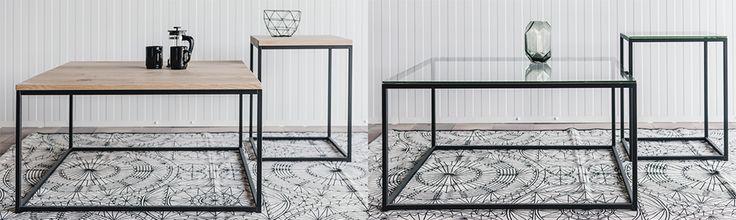 Moderne salontafel van staal, voorzien van eikenhout of glas.  Eenvoudig te bestellen via https://www.eigentijdsemeubelen.nl/salontafel/salontafel-vierkant/