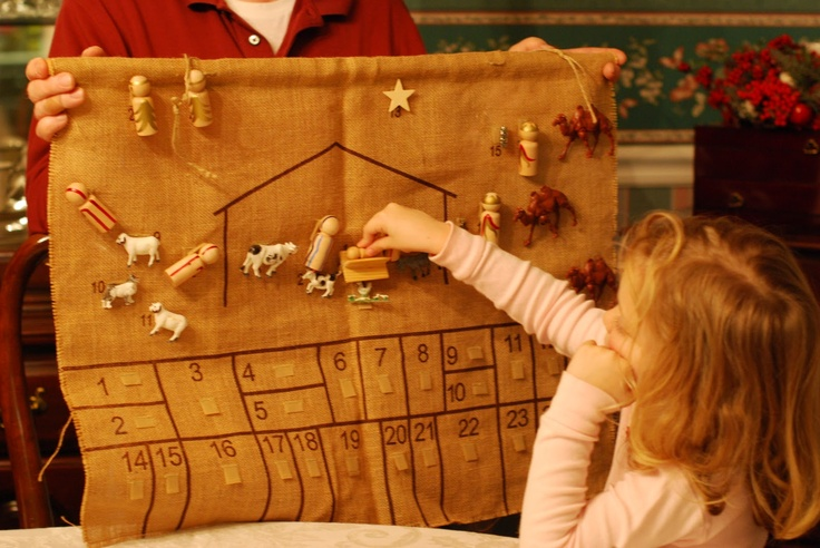 advent calendar idea with story