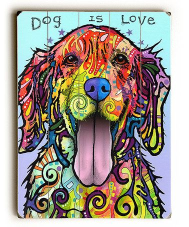 Look what I found on #zulily! Dean Russo 'Dog is Love' Wall Art #zulilyfinds