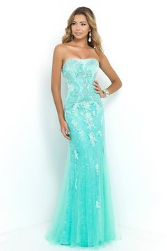 2015 Big Clearance Prom Dresses Strapless Column With Beading And Applique US$ 139.99 STPE6KT1R5 - StylishPromDress.com