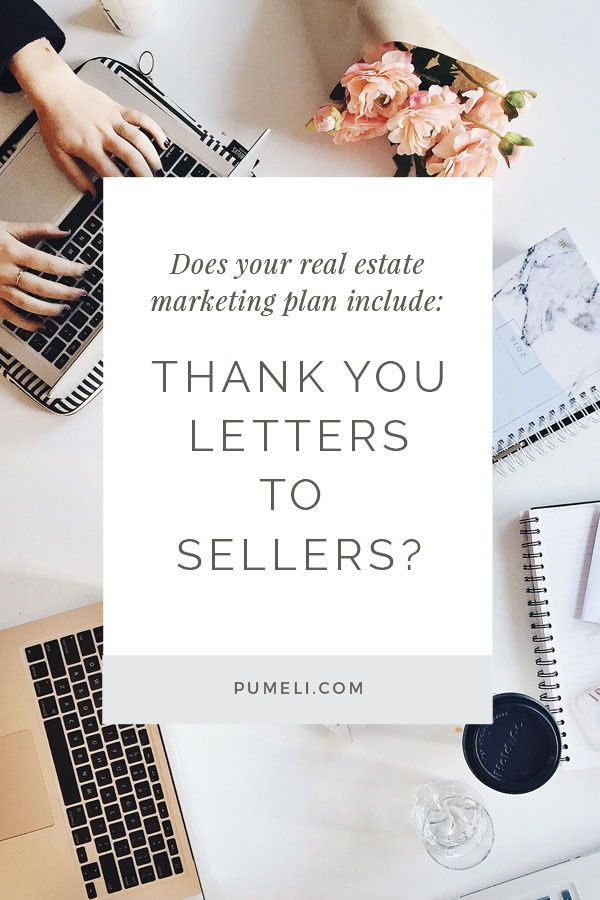 Thank You Letter Examples for Real Estate Marketing | Thank You