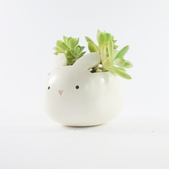 Planteur de mignon lapin lapin de Pâques par MinkyMooCeramics