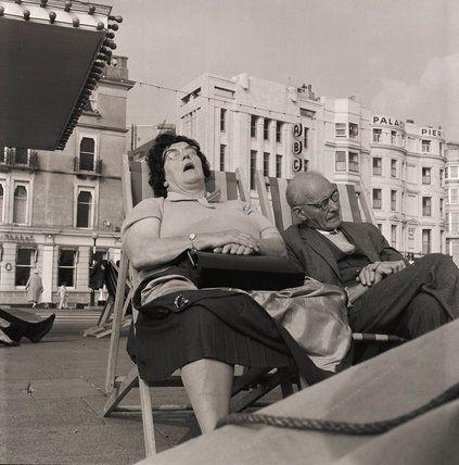 Sunbathing in Brighton in 1963 (Henry Grant).