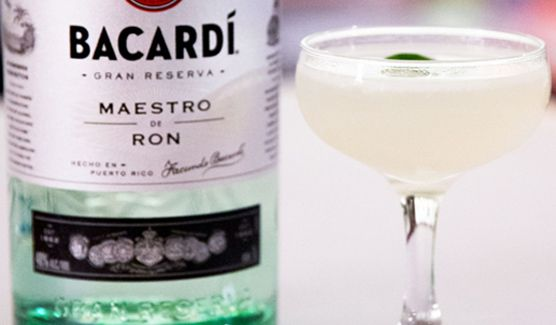 Enjoy a delicious, rum cocktail with Bacardi Gran Reserva Maestro de Ron white rum - the Siam Daiquiri from Chef Ari Taymor.