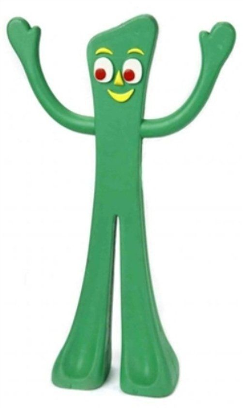 Classic+TV+Nostalgic+Green+GUMBY+RUBBER+DOG+TOY
