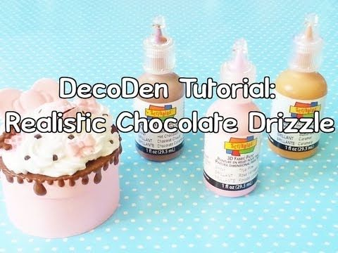 ♥DecoDen Tutorial Part 1 : Realistic Chocolate Drizzle♥ I love this <3