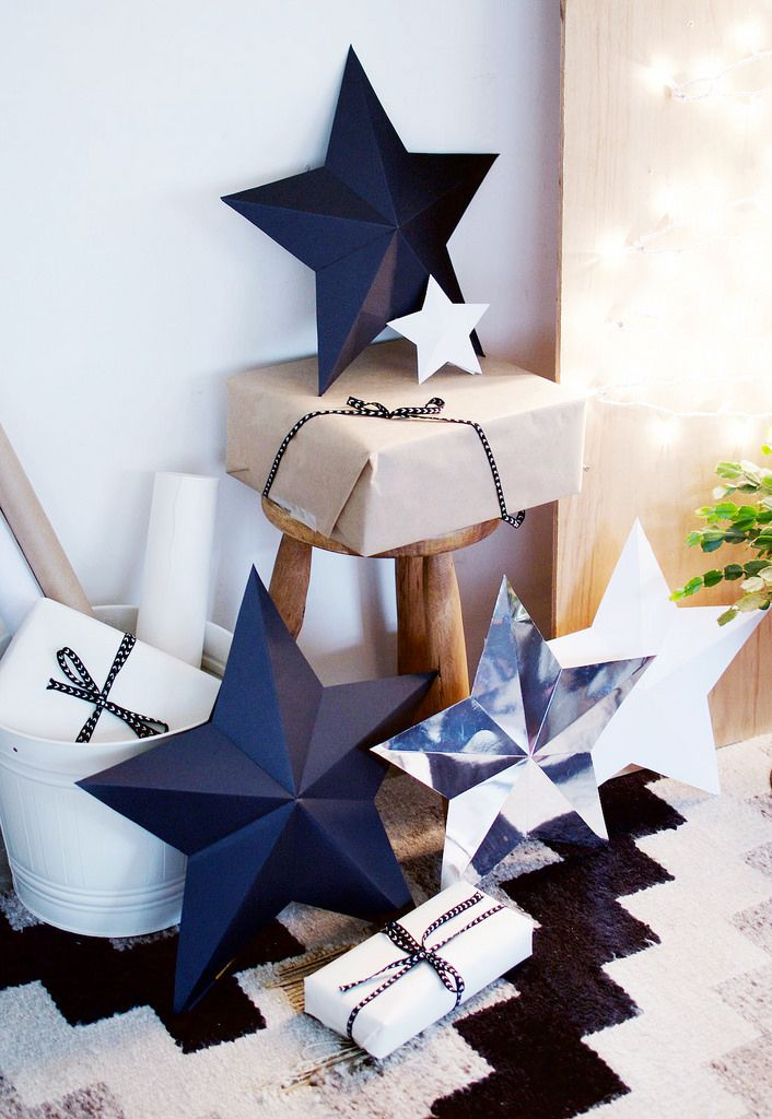 DIY 3D Star Decorations / Wrapping