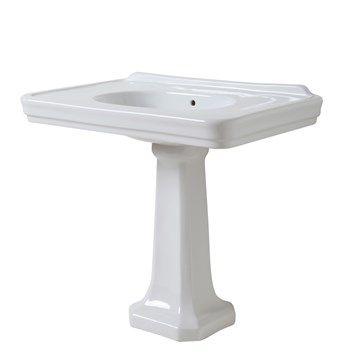 Håndvask med søjle i enkelt klassisk stil fra Italien.