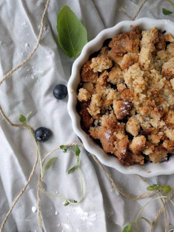 Enkel blåbärspaj i portionsform   Tjockkocken