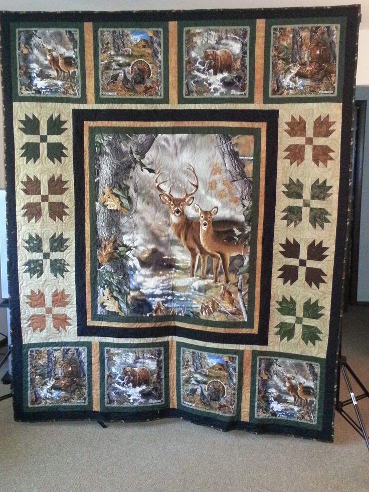 2013 Fort Atkinson Fire Dept Raffle Quilt - Realtree deer panels
