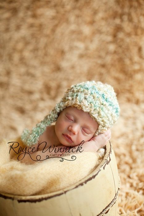 Multicolor earflap hat baby newborn crochet photography prop ready item by babies bugs and bees