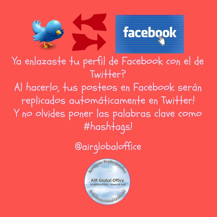 Enlaza tus perfiles para #viralizar tus #contenidos! #asistentevirtual #socialmedia #twitter
