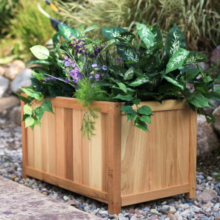 1000 images about wooden planter box ideas on pinterest for Wooden plant pot ideas