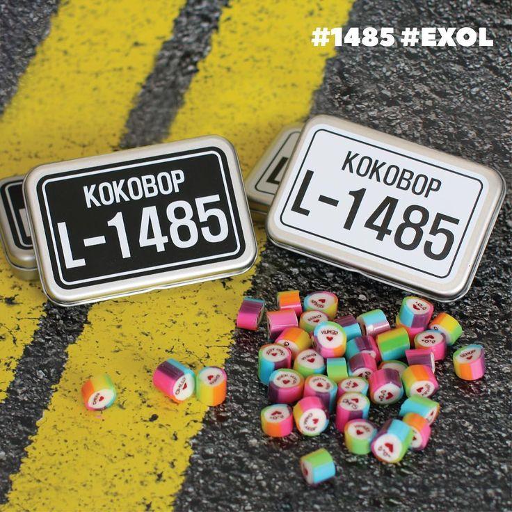 "Via (@smtown_sum) on Instagram: ""[ EXO-KO KO BOP Number Plate Candy] #1485 기념적인 이 넘버는 바로 엑소엘 탄생일 — 코코밥 뮤직비디오에서 차량 번호판으로 등장했었죠? …"""