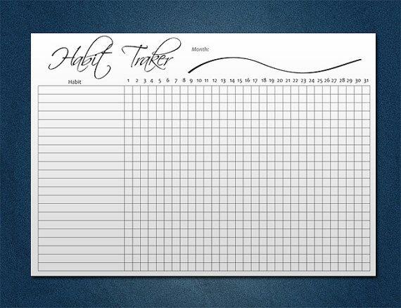 Версия для печати Привычка Traker A4, письменный стол планировщик, планировщик ежедневные привычки, план цель PDF