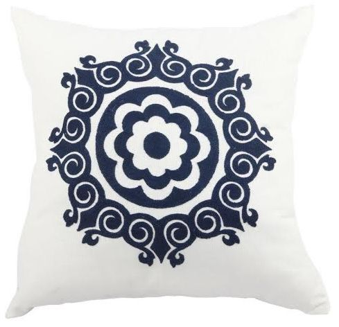 NEW in - our blue floral folk embroidered cushion. Another stunningly embroidered piece in our latest cushion collection, the blue floral folk cushion makes a lovely feature. Prop it up on your favorite love seat or style it in combination with the other cushions in our new collection.