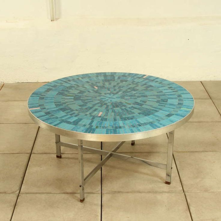 Artist And Sculptor Berthold Müller, Handcrafted Round Ceramic Coffee Table  1960