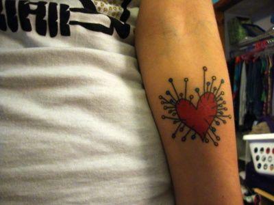 tim burton voodoo heart tattoo