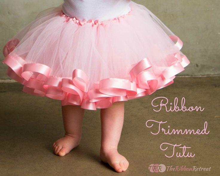 Ribbon Trimmed Tutu Tutorial - The Ribbon Retreat Blog