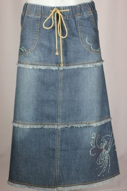Country Princess Girl Long Jean Skirt- this website has lots of cute skirts to buy