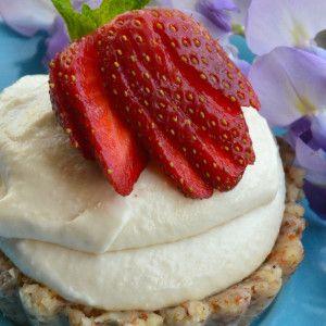 I Quit Sugar - Coconut and Strawberry Tarts (Raw)