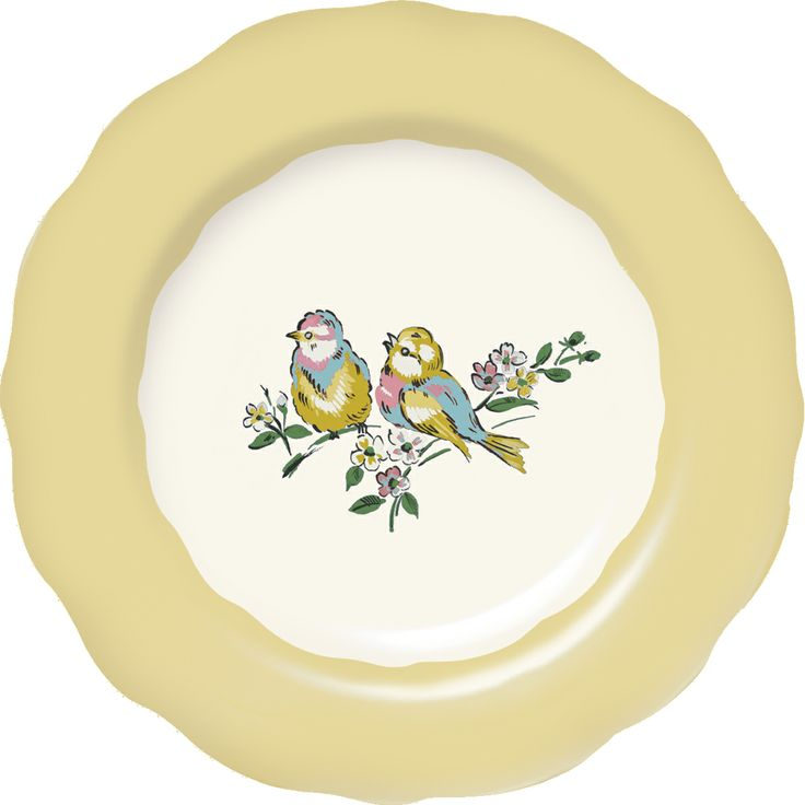 Katie Alice Bird Song Yellow Side Plate