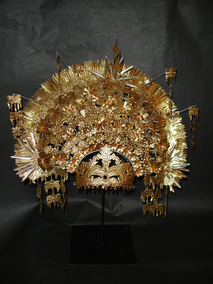 Suntiang: Traditional Indonesian Sumatra Wedding Crown Rare Display Piece Bohemian Tribal Art Global Style Travels Decor. $650.00, via Etsy.