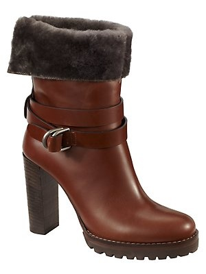 sheer cuff boot by brunello cucinelli