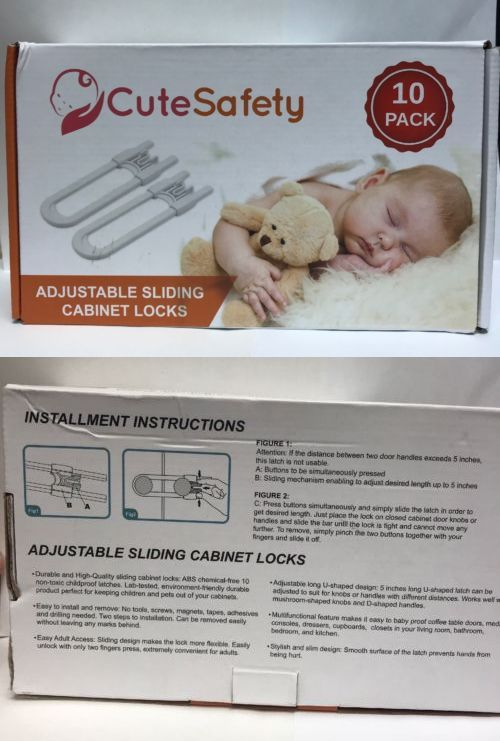 Baby Proofing 184339 Cutesafety Sliding Cabinet Locks Cabinets With Adjule Child It Now Only 12 79 On Ebay
