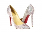"CH Christian Louboutin Pigalle ""All That Glitters"" Crystal Pumps"