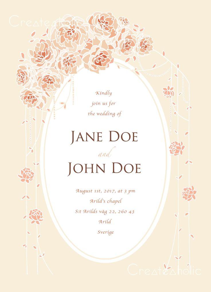 Printable Wedding Invitations via Createaholic. Click on the image to see more!