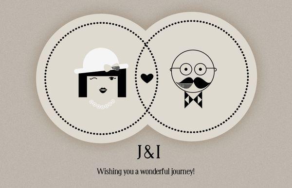 Graphic Design : J&L Wedding Invitation by Filiz Sahin | AMS Design Blog