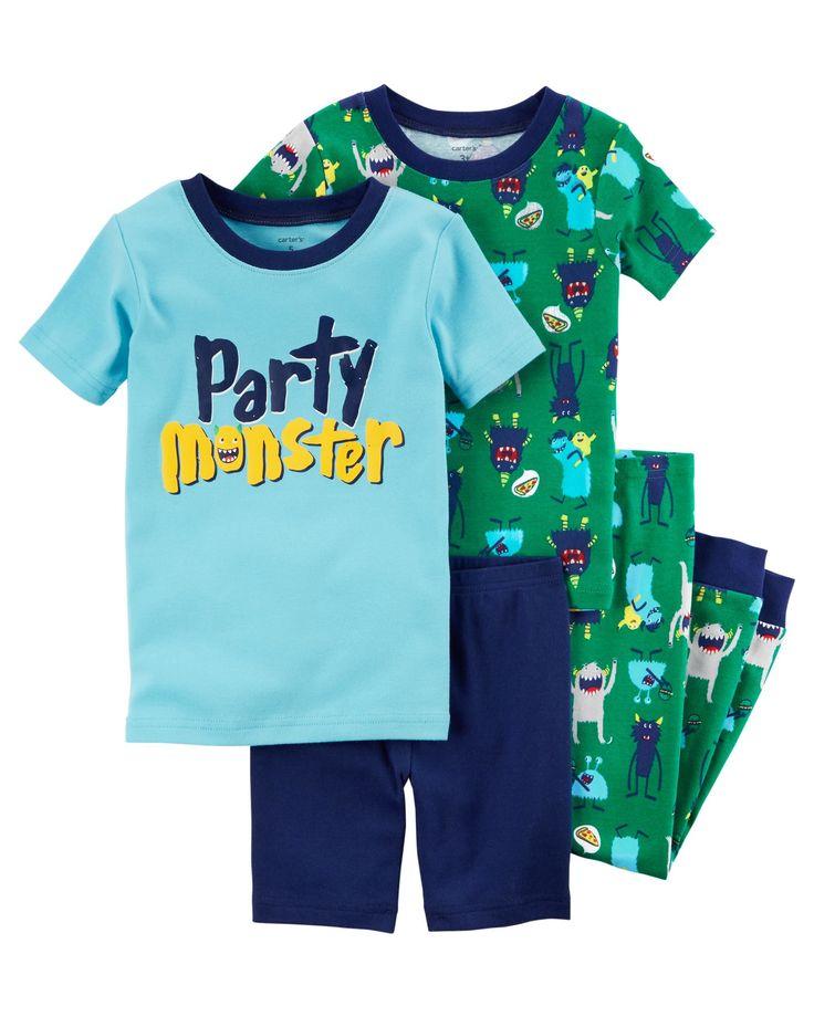 Kid Boy 4-Piece Snug Fit Cotton PJs   Carters.com