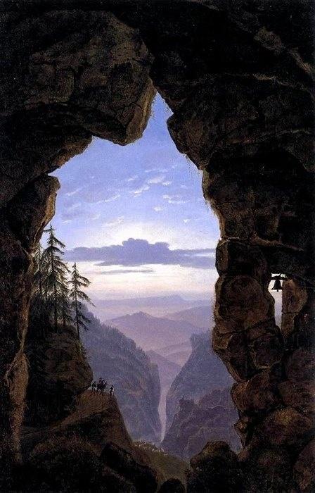 "Karl Friedrich Schinkel (1781 - 1841) ""The Gate in the Rocks"" 1818"