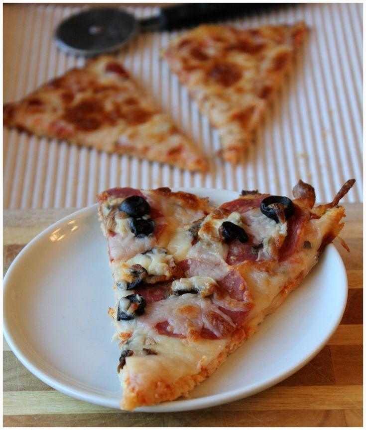 The Best Cauliflower Pizza. http://decadentlyfit.com #glutenfree #highprotein #healthy