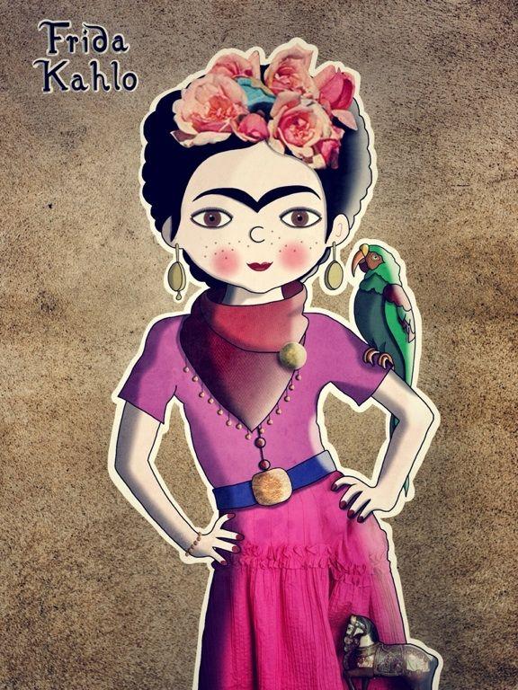 iPad Art: Frida Kahlo - Meine Mädchen - iPad-Kunst - meinemädchen - Ipad illustrations - pe valentin
