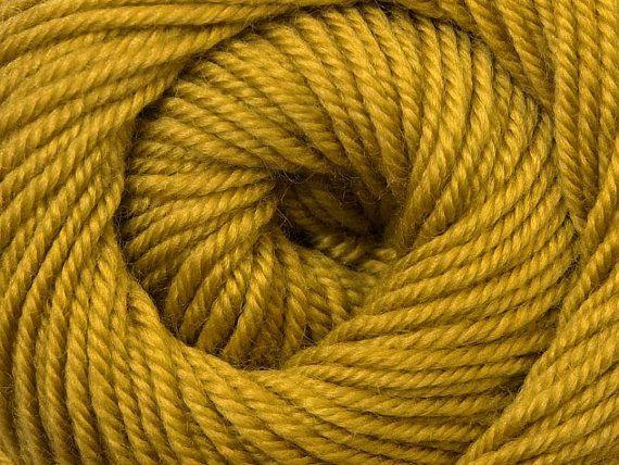 Knit Yarn Wool DeLuxe Olive  100 wool knit yarn by specialyarnshop, $8.90