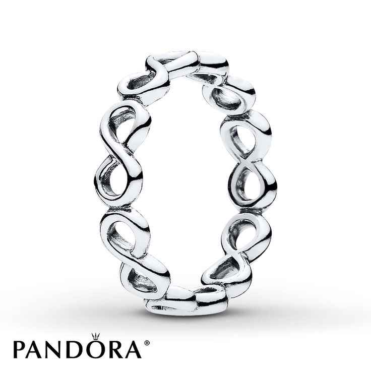 This PANDORA Infinite Shine Ring Is A Creation Made Of Linked Infinity  Signs, Crafted From Sterling Silver, And Symbolizes Unbreakable Connections  And ...