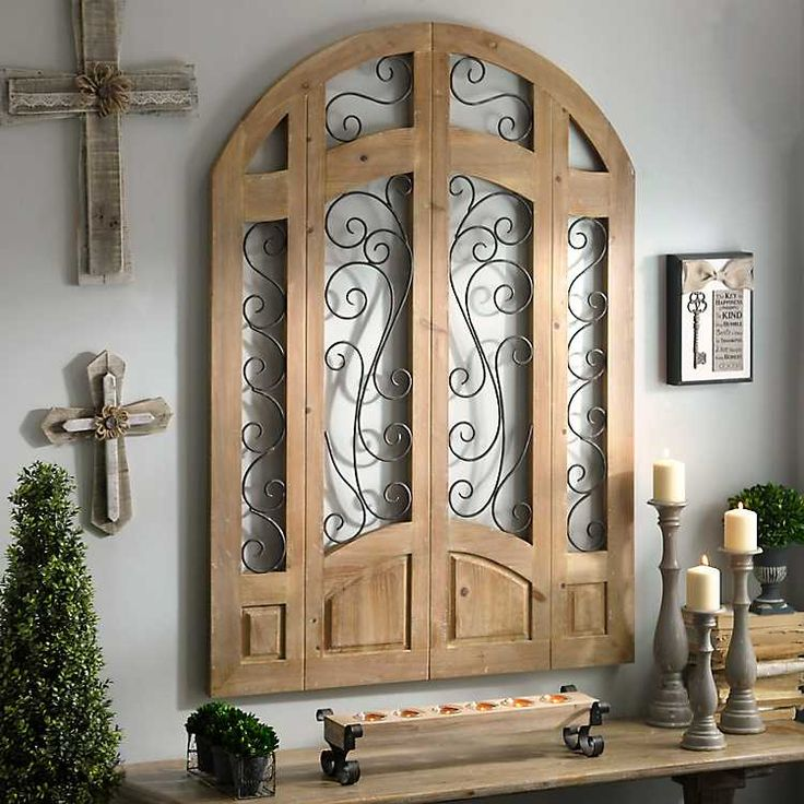 Distressed natural grand entrance wooden plaque from