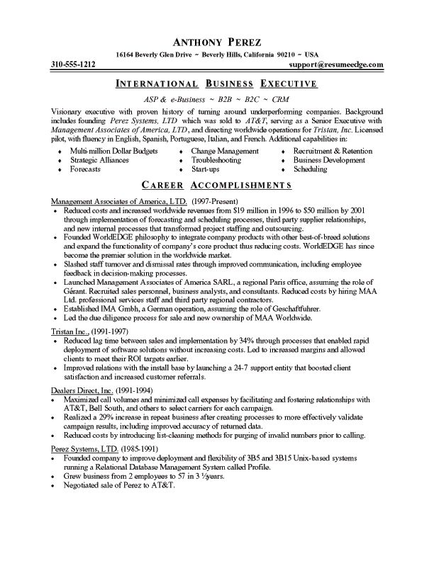 Business Resume Template  Resume Templates And Resume Builder