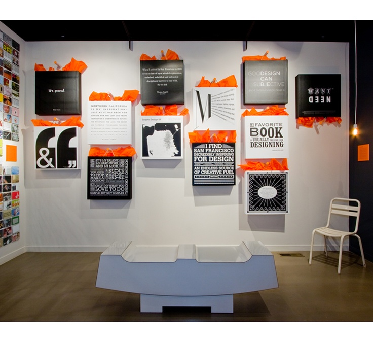 Exhibition Booth Wall : San francisco museum of craft design graphic
