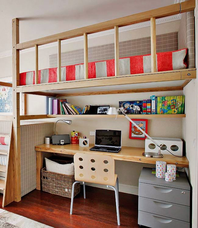 Best 25 loft bed desk ideas on pinterest bunk bed with for Boys loft bedroom ideas