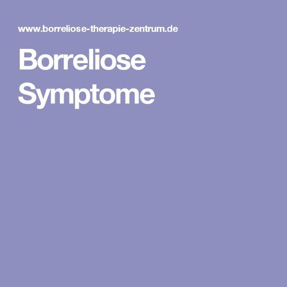 Borreliose Symptome