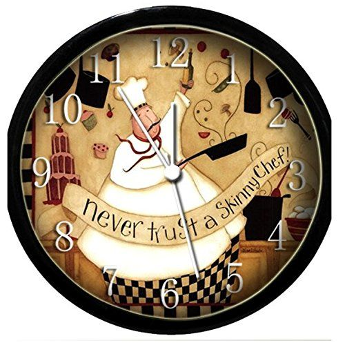 Fat Chef Wall Clocks